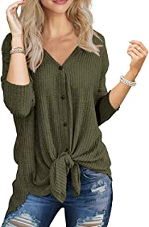 Best button waffle blouse Reviews