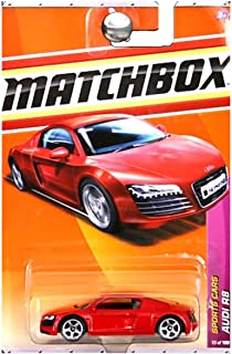 Matchbox MBX Sports Cars Series 1:64 Scale Die Cast Car #13 - Mid-Engine All-Wheel Drive Red Sport Car AUDI R8 (T8920)