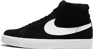 Men's SB Zoom Blazer Mid, Black/White-White-White, 14 M US