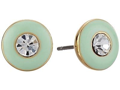Kate Spade New York Candy Drops Enamel Round Studs Earrings (Mint Multi) Earring