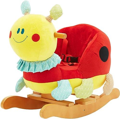 HONNIEKIS K r Plüsch Schaukelpferd Spielzeug, h ernes Schaukelpferd für Kinder 1,2,3 Jahre, Geschenk für Kinder