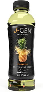 J-GEN Pineapple: ANTIOXIDANT-Infused Drink by Julio Iglesias Jr. - Healthy and Refreshing - Helps Fight Aging - Essential Minerals and Vitamins - Contains Electrolytes - 18 FL OZ Bottle - 12 Pack