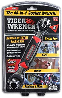 Tiger Wrench TW-MC12/4 ONTEL 48 Tools In One Socket   Works with Spline Bolts, 6-Point, 12-Point, Torx, Square Damaged Bolts and Any Size Standard or Metric