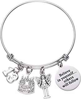 LParkin 13th Birthday Gifts for Girls Gifts for Her Stainless Steel Expandable Bangle