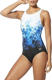 Speedo Women's Swimsuit One Piece High Neck Contemporary Cut-Discontinued