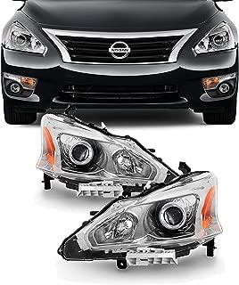 For 13-15 Altima 4 Doors Sedan Halogen Type Headlights Front Lamps Direct Replacement Left + Right Pair