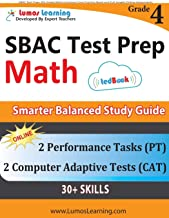 SBAC Test Prep: 4th Grade Math Common Core Practice Book and Full-length Online..