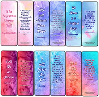 Popular Bible Verses Bookmarks Series 2 (60 Pack) - Perfect Gift Away for Sunday School and Ministries