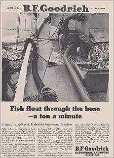 RelicPaper 1953 B F Goodrich: Fish Float Through The Hose, B F Goodrich Print Ad