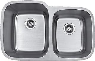 """Karran Builder's Choice 32"""" 60/40 Undermount Double Bowl Stainless Steel Kitchen Sink"""