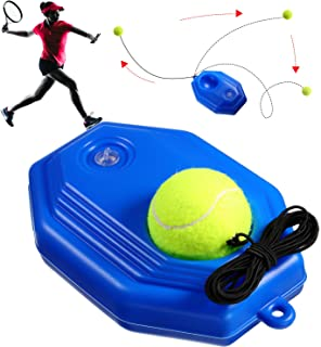Sumind Tennis Trainer Tennis Ball Trainer Tennis Training Baseboard Tennis Equipment Tennis Trainer Rebounder Ball with Rope Practice Training Tennis Ball Tool for Self-Study Tennis Training