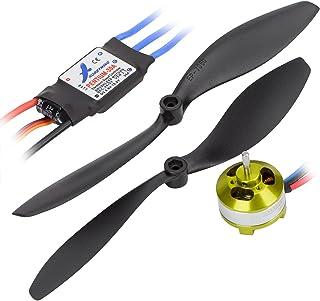 Hobbymate Rc Airplane Power Combo Hobbymate Motor 30A ESC Program Card Props Plugs ParkFlyer