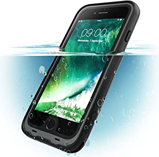 i-Blason Case for iPhone 7 2016 / iPhone 8 2017 Release, [Aegis] Waterproof Full-body Rugged Case with Built-in Screen Protector (Black)