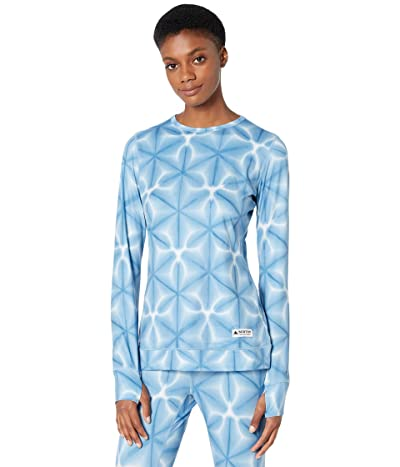 Burton Midweight Base Layer Crew (Blue Dailola Shibori) Women