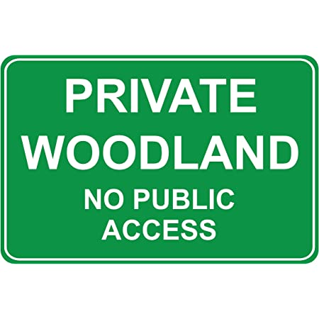 Private Land No Public Access Or Right Of Way Aluminium Sign 300mm x 200mm.