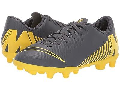 Nike Kids Vapor 12 Club MG Soccer (Toddler/Little Kid/Big Kid) (Dark Grey/Black/Opti Yellow) Kids Shoes