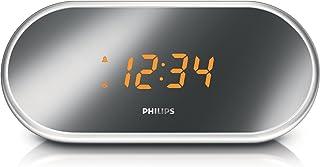 Philips AJ1000B/37 Mirror-finish Clock Radio, Black (Discontinued by Manufacturer)