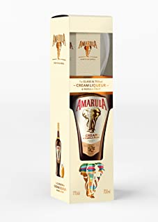 Amarula Original Marula Fruit & Cream Liqueur Gift Set | Includes 1 x 70cl bottle with 1 x Amarula glass
