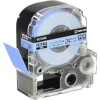 キングジム テープカートリッジ テプラPRO インデックスラベル 24mm SCY24B 青