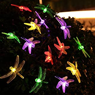 YXZQ Dragonfly Solar Lights, Dragonfly Lights 20FT/6M 30 LED Dragonfly Outdoor Lights Waterproof for Home Indoor Garden La...