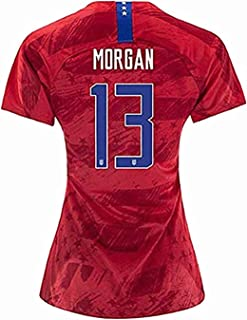 Womens Alex Morgan Jersey #13 2019/20 USA National World Cup Away Soccer Jersey Red