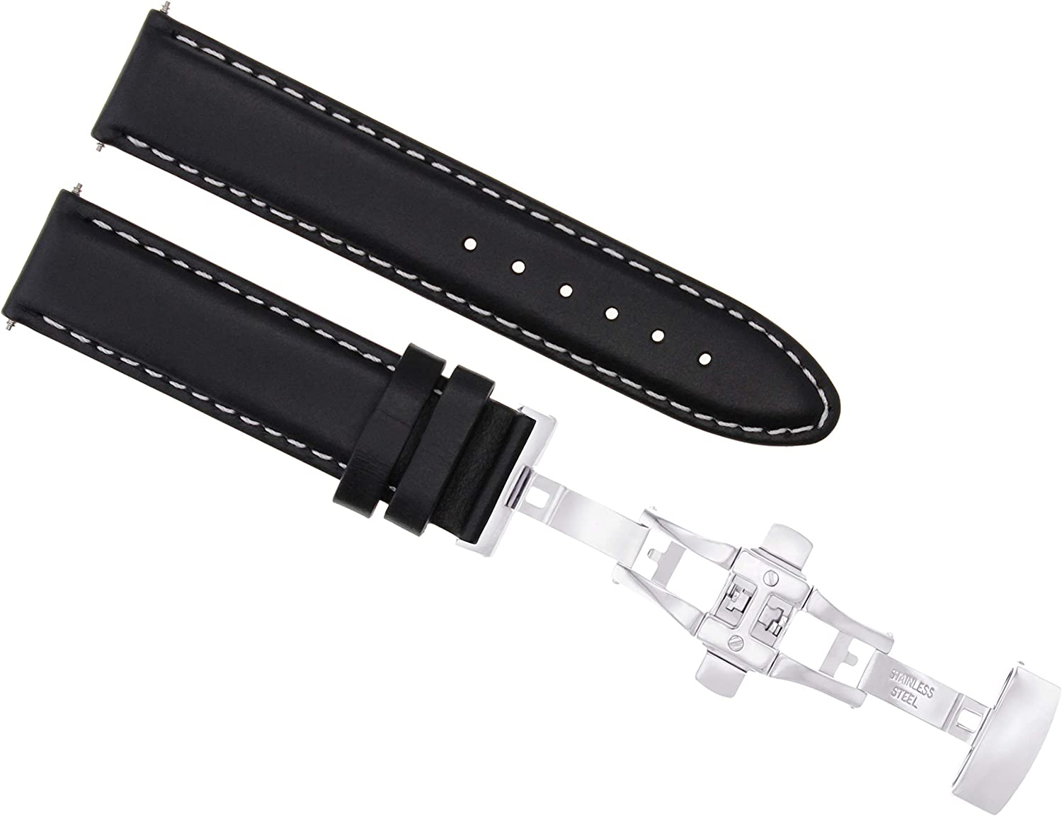OFFer 22mm Smooth Leather Watch Strap with Band Invicta Compatible 333 Ranking TOP4