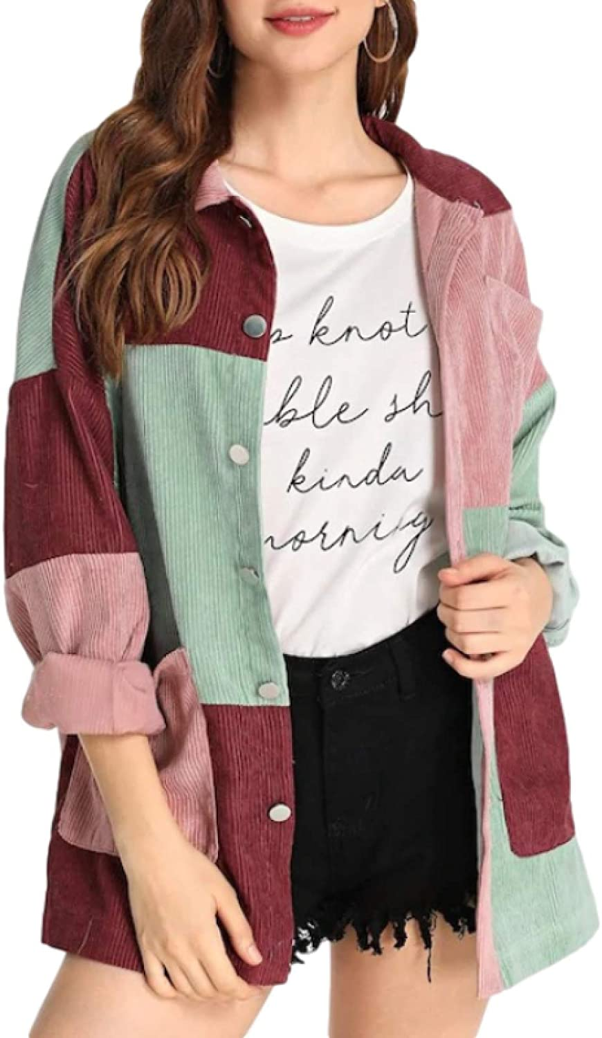 Women's Autumn and Winter Long-Sleeved Color Memphis Mall Easy-to-use Matchi Fashion Tops