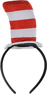 Costumes USA Dr. Seuss Cat in the Hat Headband for Kids, Halloween Costume Accessories, 2 1/4
