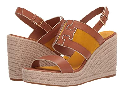 Tory Burch Ines 105 mm Wedge Espadrille (Tan/Goldfinch) Women