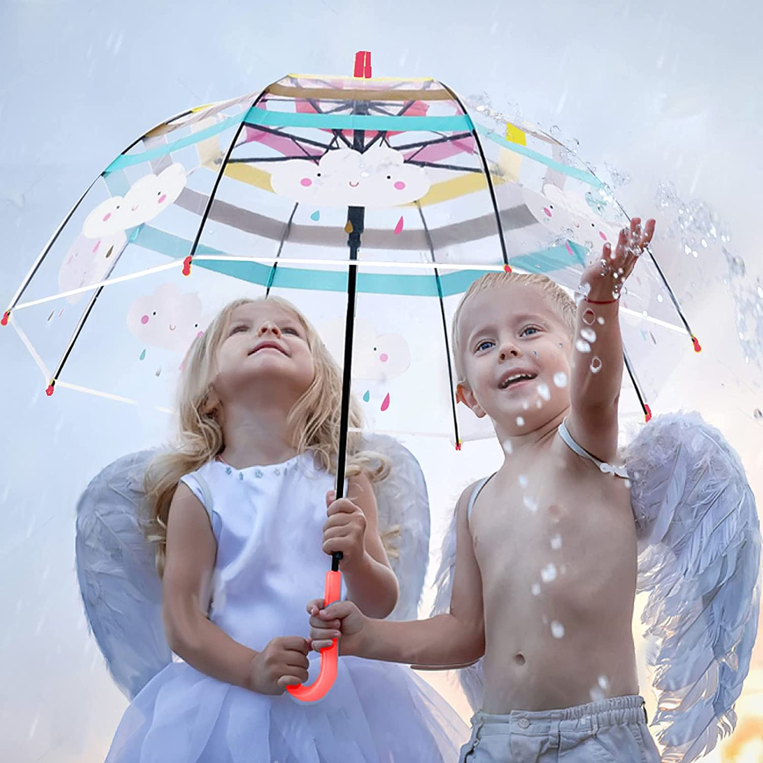 Complete Free Shipping Kids Clear Miami Mall and Transparent Umbrella with an Easy Handle Do Grip