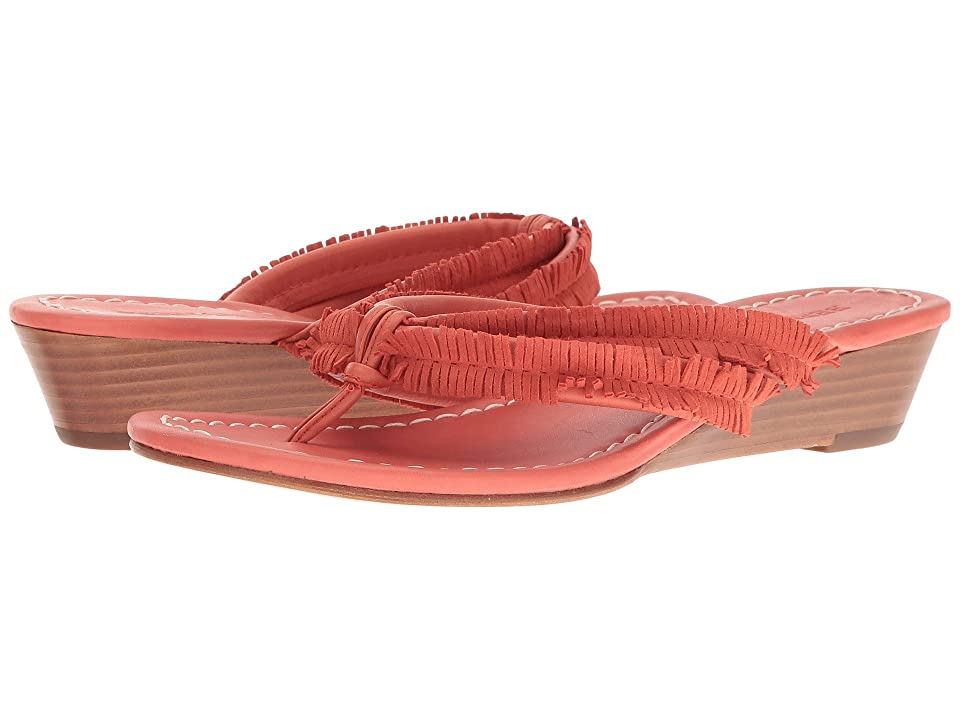 Bernardo Miami Fringe Wedge (Salmon) Women