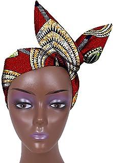 ربطة عنق وشاح للرأس بطبعة شمع تقليدية من أوربان أفريكان، وشاح رأس متعدد الألوان للنساء من أوربان إكسسوار للشعر (اللون 16)