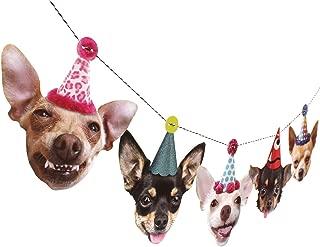 Chihuahua Birthday Garland, dog party decoration banner