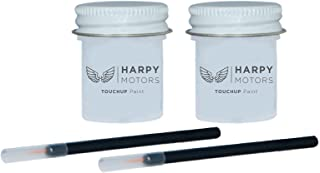 Harpy Motors 1/2oz Touch up Paint Basecoat Clearcoat with Brush Compatible with 2011-2018 Nissan Rogue QAB White Pearl -Color Match Guaranteed