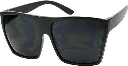 ShadyVEU Big XL Large Square Trapezoid Shape Oversized Flat Top Fashion Sunglasses