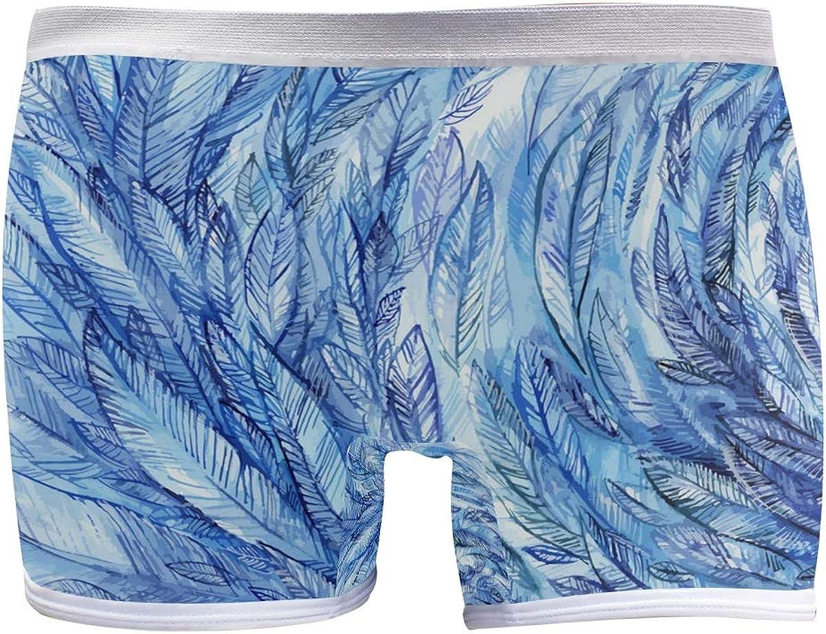 SLHFPX Womens Underwear Boxer online shop Briefs Blue Ladies Rare Seamle Feathers