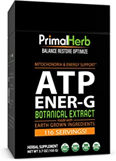 ATP, Mitochondria Energy Boost | Cistanche, Cordyceps, Siberian Eleuthero, Green Tea Extract | by Primal Herb | Includes B...