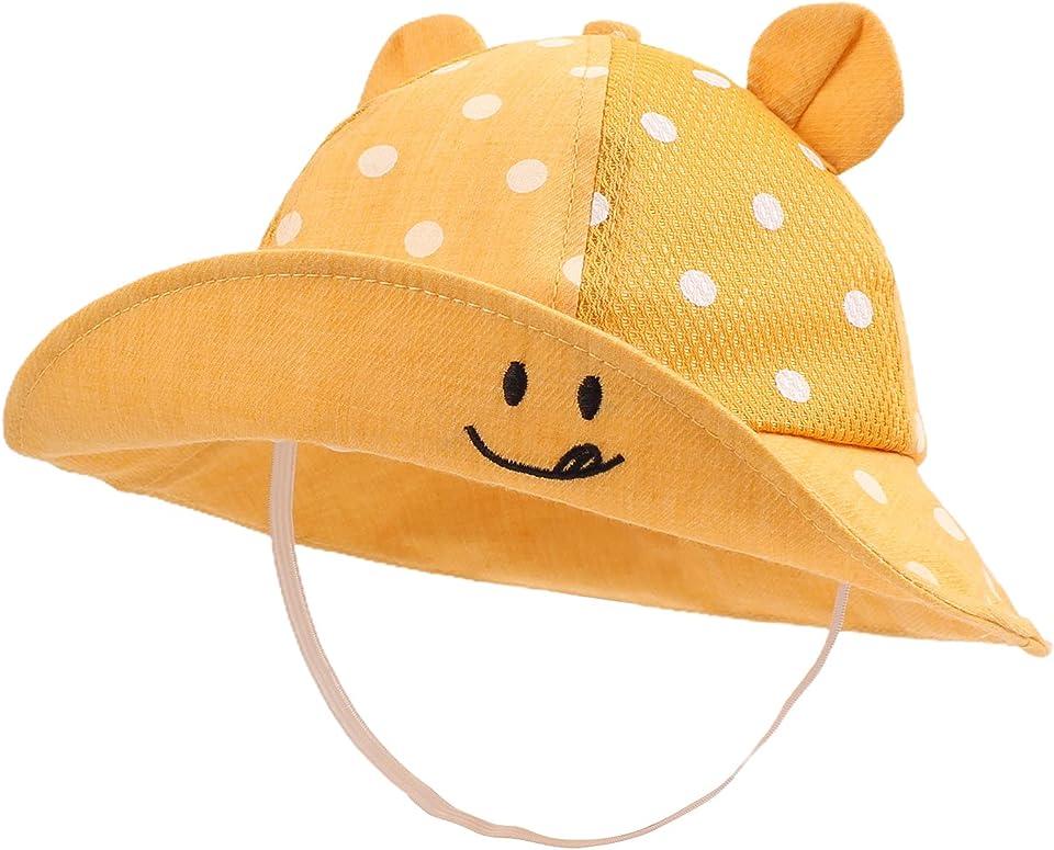 Baby Mädchen Sommerhut 6-24Monate Sonnenschutz Mütze Baby Junge UV Schutz Sommer Mützen Unisex Baby Sonnenhut