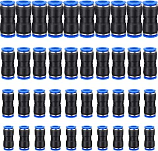 Plastic Tee Push to Connect 8mm or 5//16OD x 1//4 G Tube Fittings Male Thread Push Lock Blue 5 Pieces