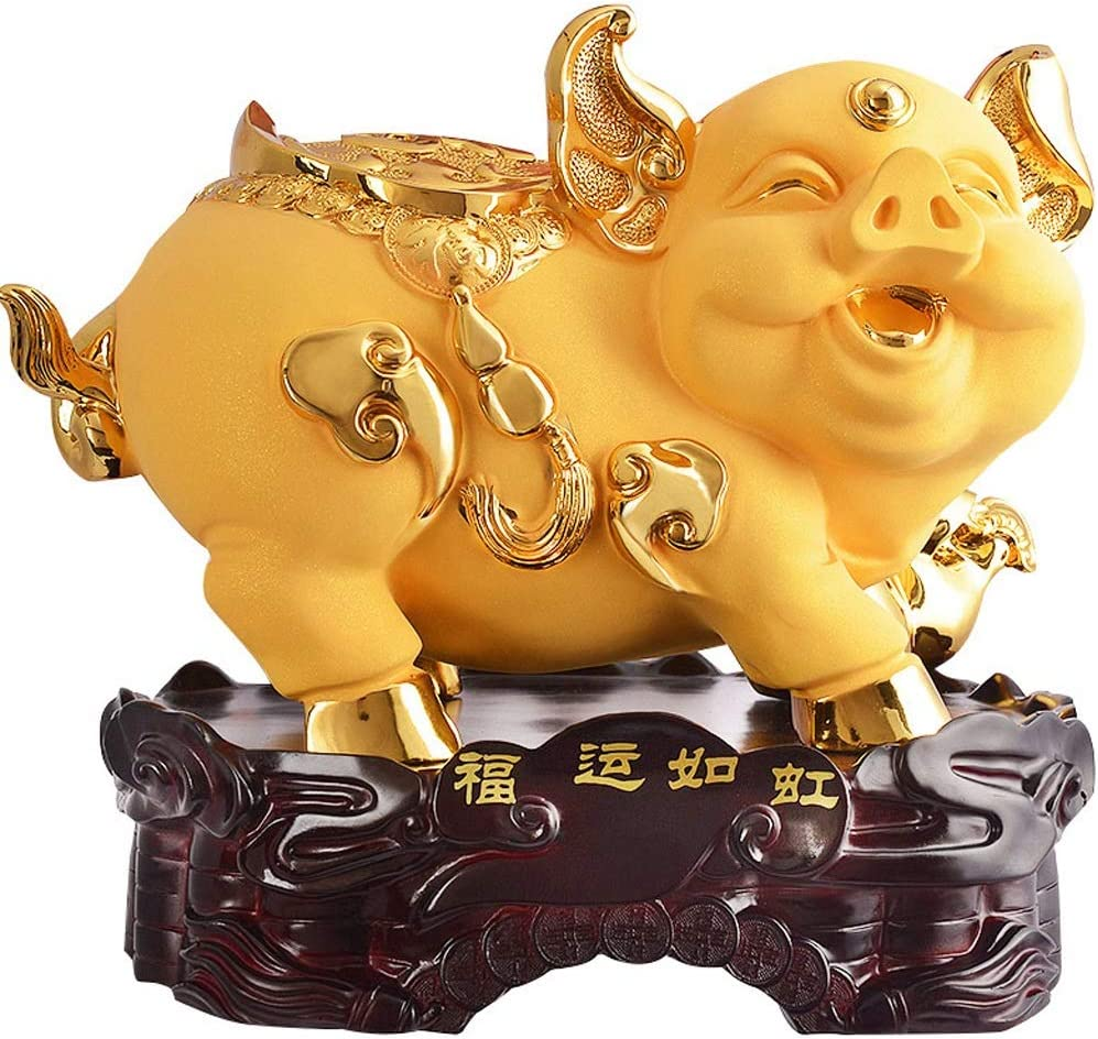 Decorations Under blast sales Golden Pig Home Challenge the lowest price of Japan ☆ Watershed Pigs Cute