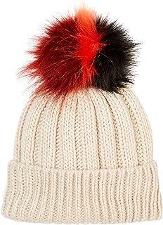 Under Zero Women's Faux Fur Pompom Ball Knit Hat