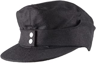 Heerpoint Reproduction WWII Ww2 German Wh Elite Em Army M43 Panzer Wool Field Cap Hat Black