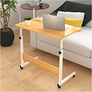 Laptop Desk 80 * 40CM Wooden Computer Table Adjustable Portable Rotate Laptop Sofa Bed Side Table Can Be Lifted Standing D...