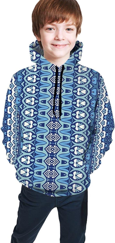 Kimisoy Kids Max 51% OFF Hoodie Striped Blue Sweatshirt Loose Comfy Hooded Import P