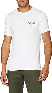 بلايز منسوج ومطاطي مع اكمام قصيرة للرجال مطبوع عليه كلمة CALVIN من كالفن كلاين