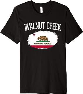 WALNUT CREEK CA CALIFORNIA Flag Vintage USA Sports Men Women Premium T-Shirt