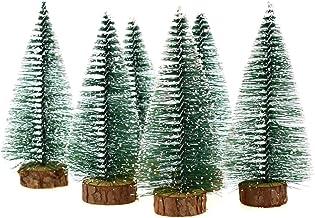 Hagao Mini Snow Frost Trees Mini Christmas Tree Plastic Winter Snow Ornaments Tabletop Trees for Holiday Party DIY Room De...