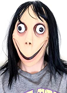 MOMO MASK Scary Latex HOT MOMO Mask First and Only! Halloween Mask Beige