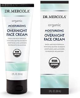 Dr. Mercola Organic Moisturizing Overnight Face Cream, 1 Tube (2.0 Fl. Oz.), non GMO, Gluten Free, Soy Free, USDA Organic