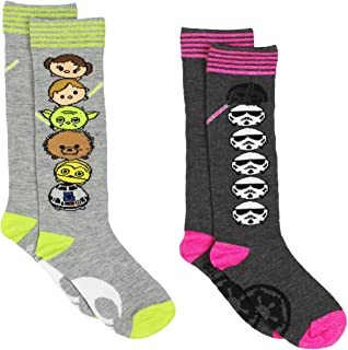 Tsum Tsum Star Wars Girls Womens 2 pack Knee High Socks (Toddler/Little Kid/Big Kid)